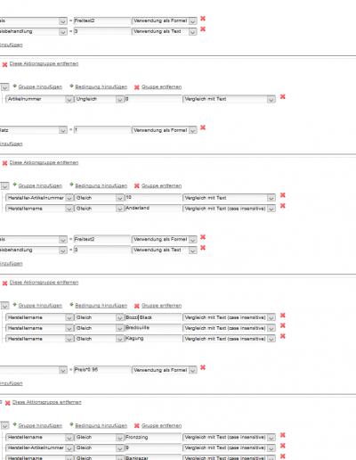 Ausschnitt eines komplexen Einsatz-Beispiels des Starsellersworld Universalfilters für die individuelle Datenaufbereitung